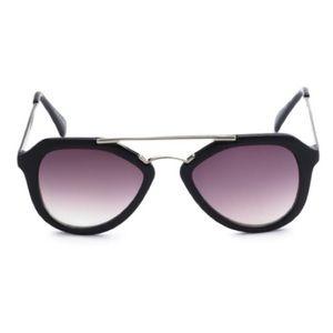 EASON EYEWEAR Black Aviator Sunglasses Eye Shades
